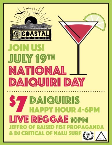 National Daiquiri Day at Coastal Kitchen
