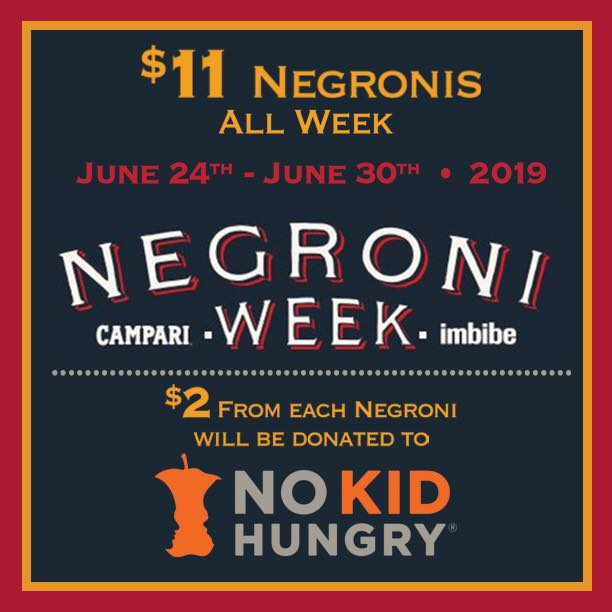 Negroni Week at Coastal Kitchen