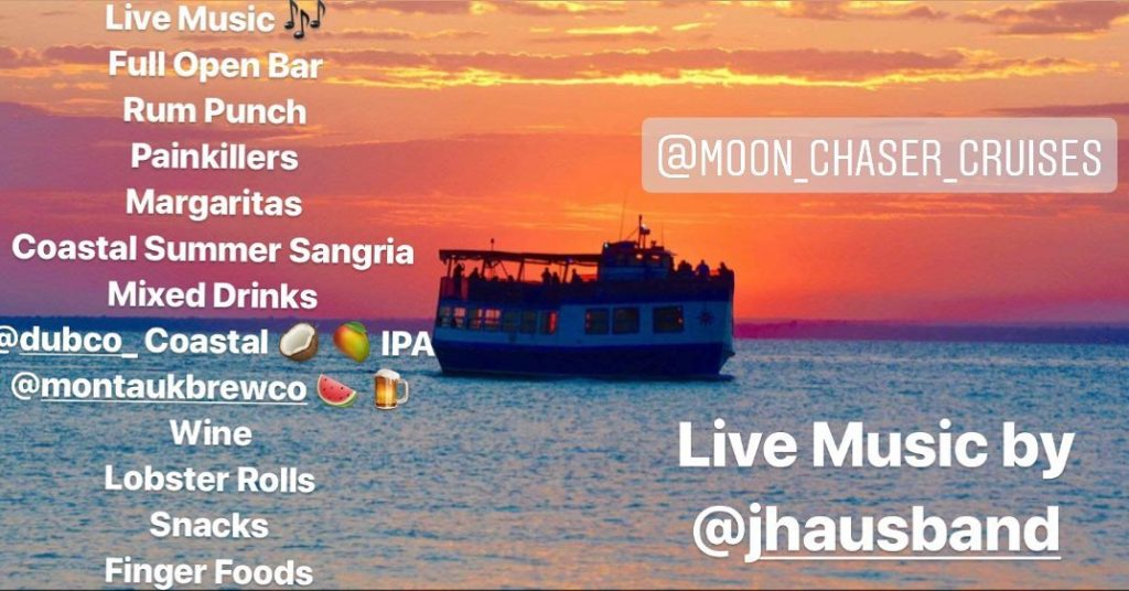 Coastal Kitchen Sunset Cruise lineup
